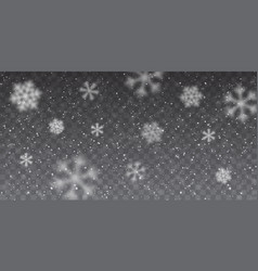 christmas snow heavy snowfall falling snowflakes vector image