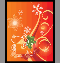 christmas theme background vector image