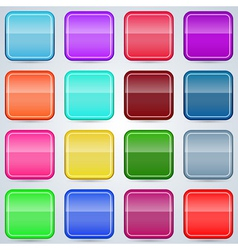 Colorful buttons templates vector image