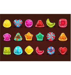 colorful glossy candies details for computers vector image