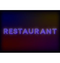 Colorful Glowing Neon Lights Restaurant vector image
