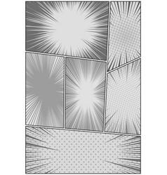Comic book monochrome design concept vector