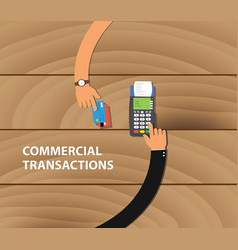 commercial transactions with two business man vector image