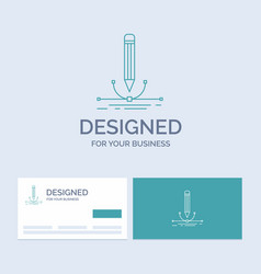 design pen graphic draw business logo line icon vector image
