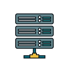 disk data center isolated icon vector image
