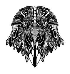 doodle art beautiful bird full vector image