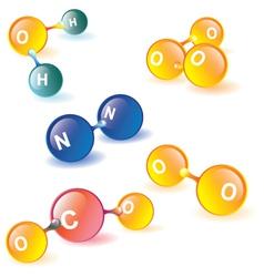 Earth atmosphere molecules vector
