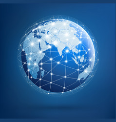 Earth global networks vector