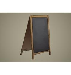 Empty Menu Black Board Isolated vector image