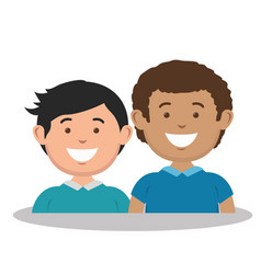 Family members avatars characters vector