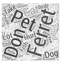 Ferrets As Pets Word Cloud Concept vector image