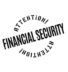 Financial Security rubber stamp vector
