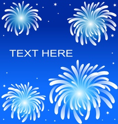 Fire work on blue background vector