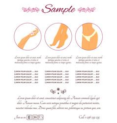 Flat banner template for beauty salon flat vector