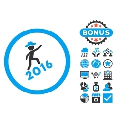 Gentleman Climbing 2016 Flat Icon with vector image