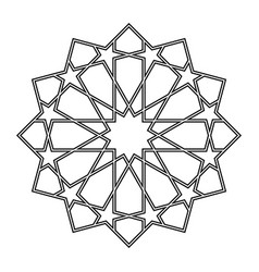 Geometric islamic ornamental pattern vector