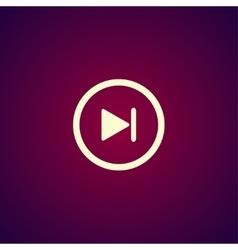 Glossy multimedia icon next track vector