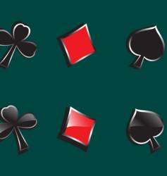 glossy symbols of playing cards vector image