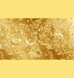 gold shatter vector image