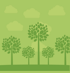 green tree plant design vector image