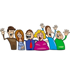 happy people vector image