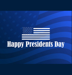 happy presidents day greeting card with american vector image