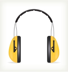 Headphones for ear protection vector