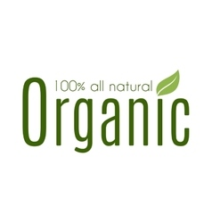 Healthy organic natural fresh logo vector image
