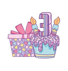 kids birthday cartoons vector image