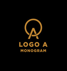 Luxury initial a logo design icon element isolated vector