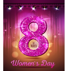 March 8 greeting card Background of Womens Day vector image vector image