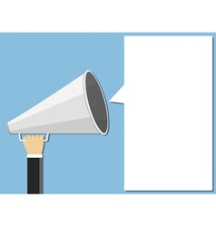 Megaphone and Speech Bubble vector image