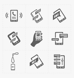 Modern flat social icons set on white background vector