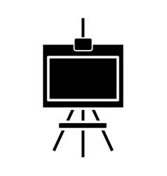 molbert icon black sign on vector image