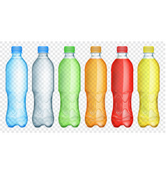 multicolored translucent plastic bottles vector image