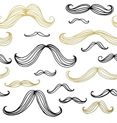 Mustaches seamless pattern Hand drawn elements vector image