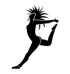 Nice dance simple sign vector