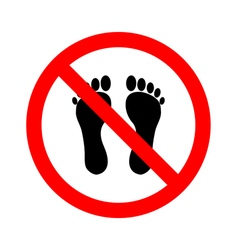 No bare feet vector