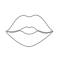one line lips vector image