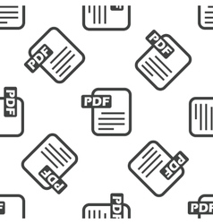 PDF file pattern vector