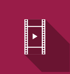 play video icon film strip with play sign vector image