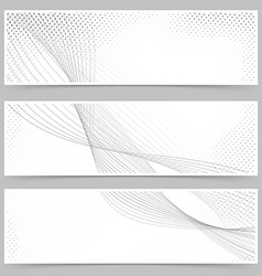 Promotion flyer wave line header collection vector image