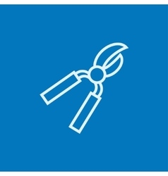 Pruner line icon vector image