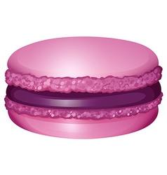 Purple macaron with cream vector