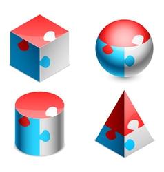 Puzzle figures vector