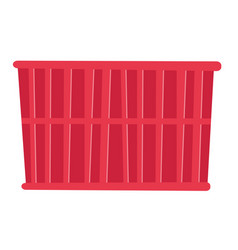 red cargo container cartoon vector image