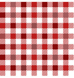 Red gingham mix seamless pattern vector