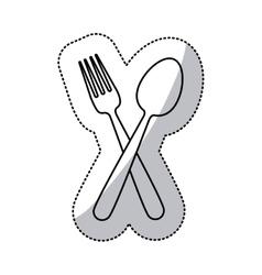 Restaurant cutlery utensils vector