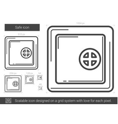 Safe line icon vector