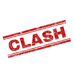 Scratched textured clash stamp seal vector